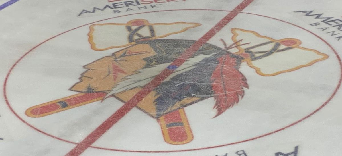 Johnstown Tomahawks center ice logo