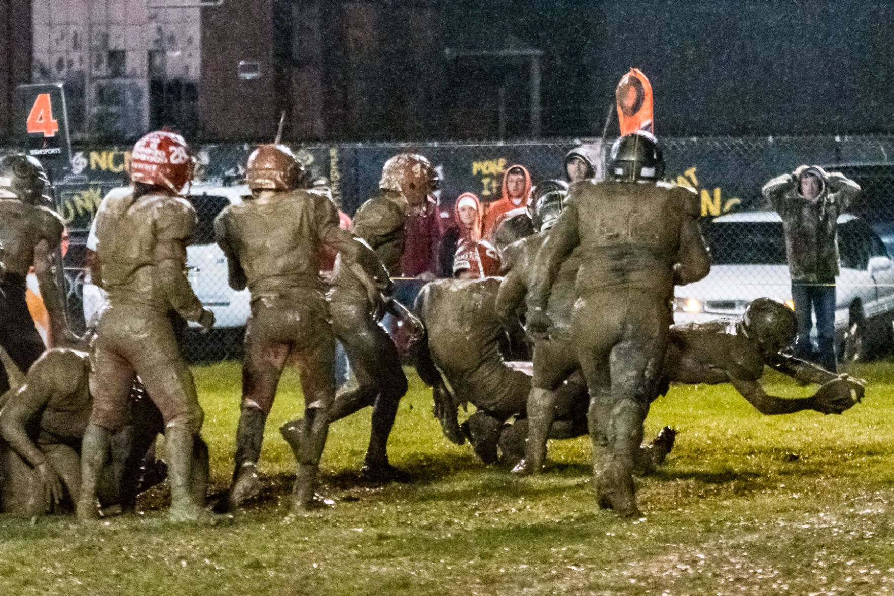 Getting moist muddy in my football uniform