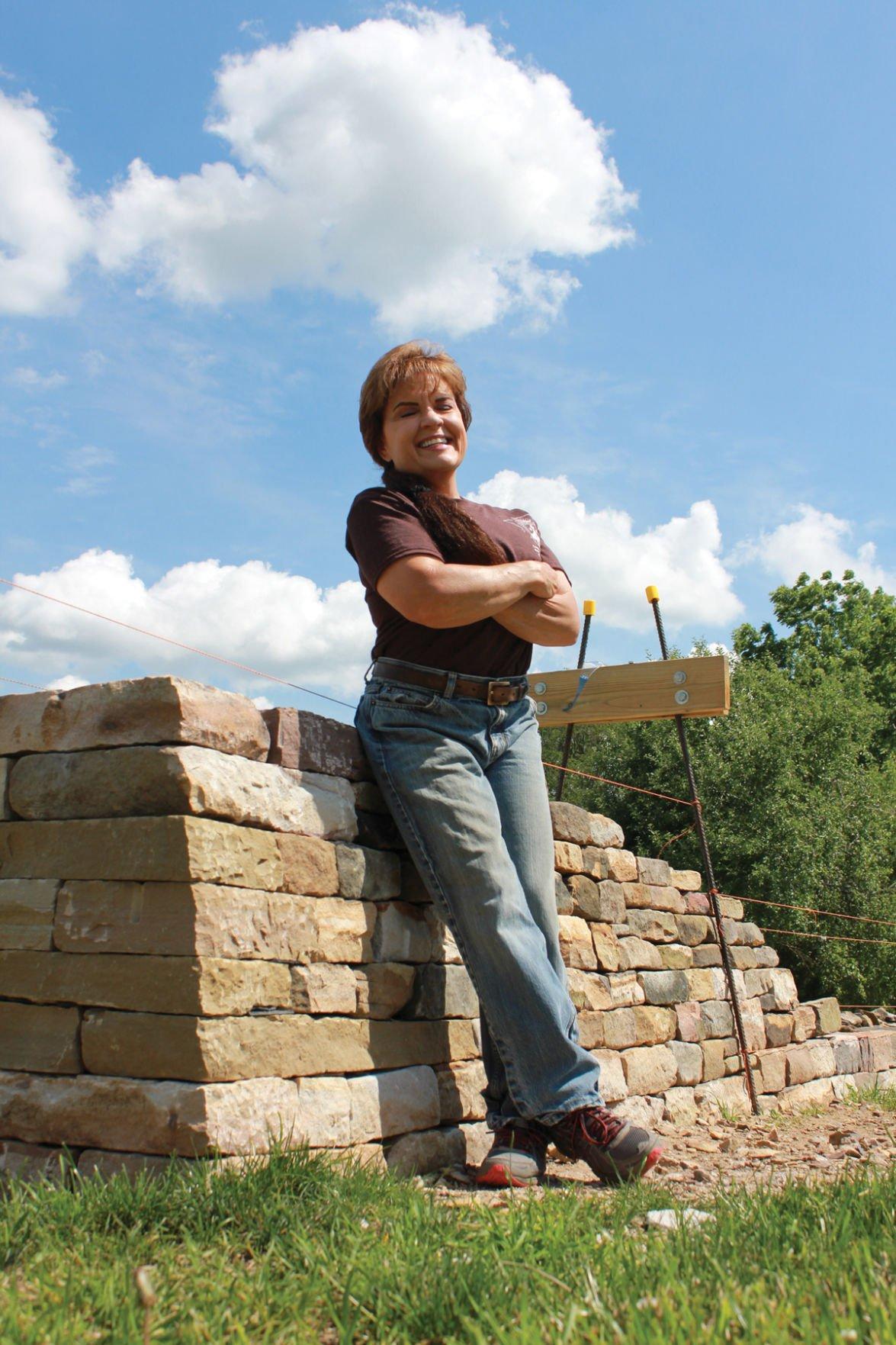 Dry stone mason Kim Coggin