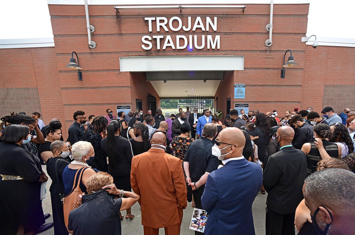 Carlton Haselrig Funeral | Trojan Stadium | Family & Friends