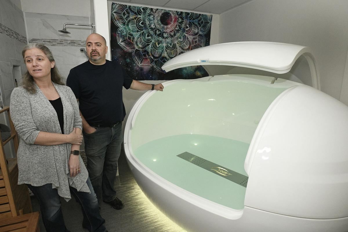 Becky and Anthony SanGregorio floatation therapy