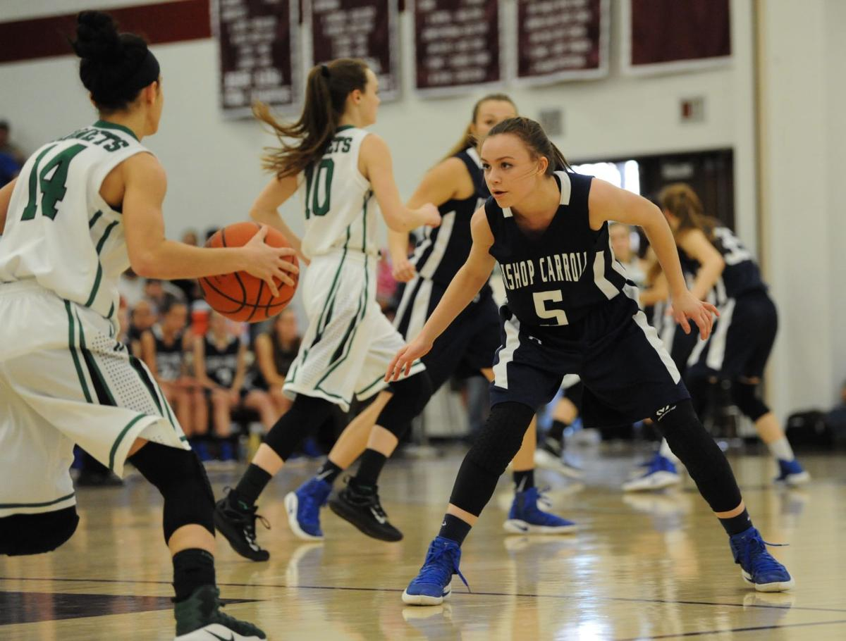 Photo gallery bishop carroll falls to juniata valley 46 33 in girls bishop carrolls alivia borlie right keeps an eye on juniata valleys taylor leidy during a piaa class a semifinal game at altoona high school in altoona kristyandbryce Image collections
