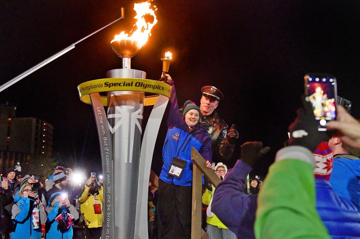 Special Olympics cauldron