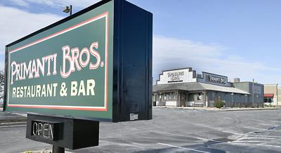 Primanti Bros. sign and outside of building