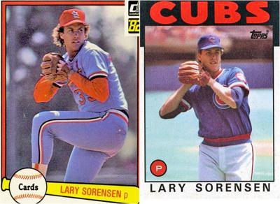 Lary Sorensen baseball cards
