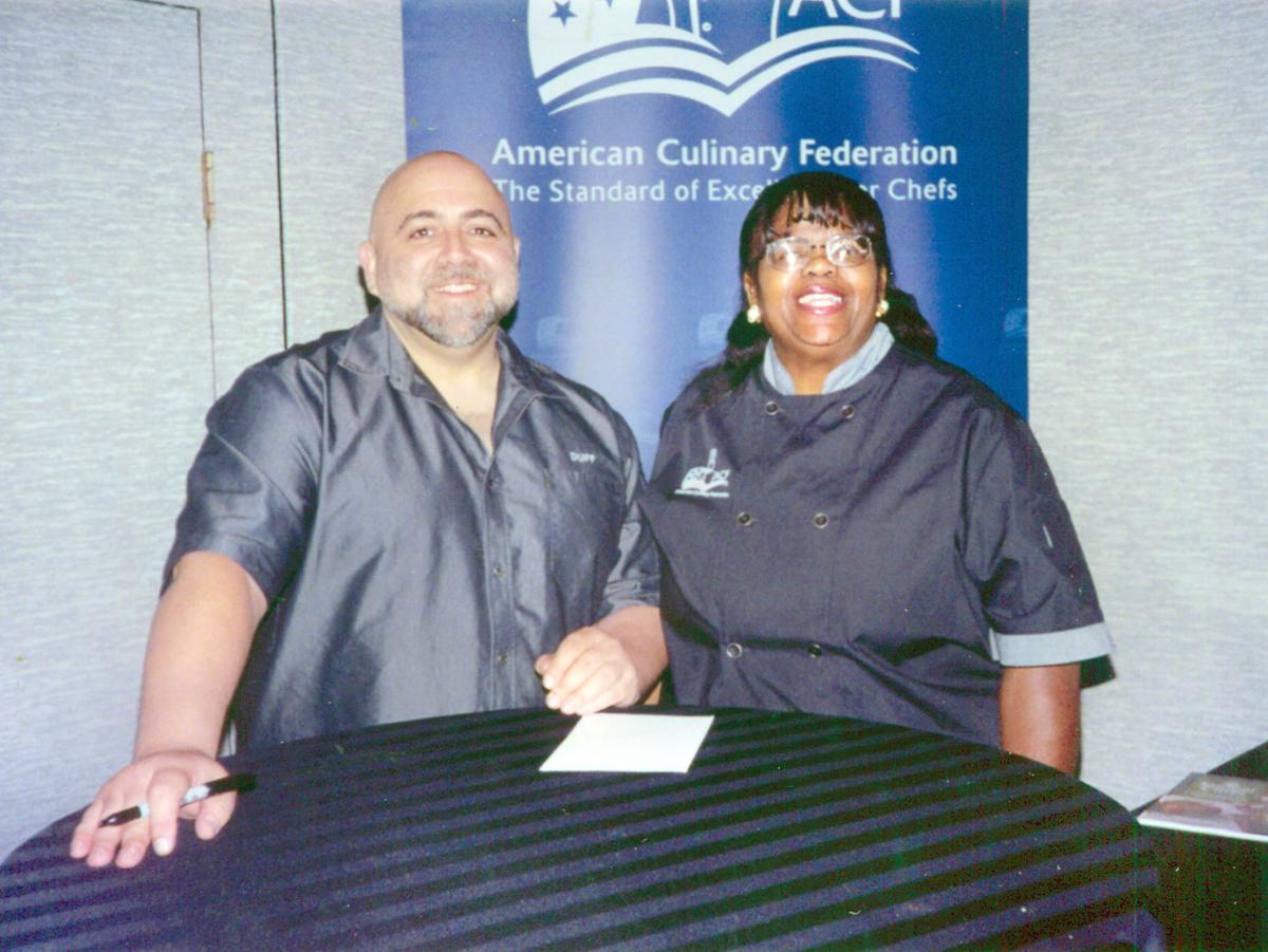 Chef Vinette Showell with Duff Goldman