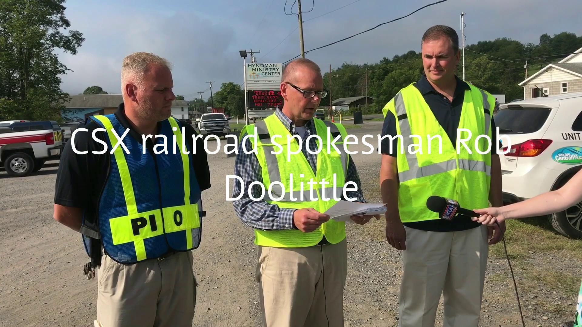 Propane fire out at Hyndman train crash site residents await news