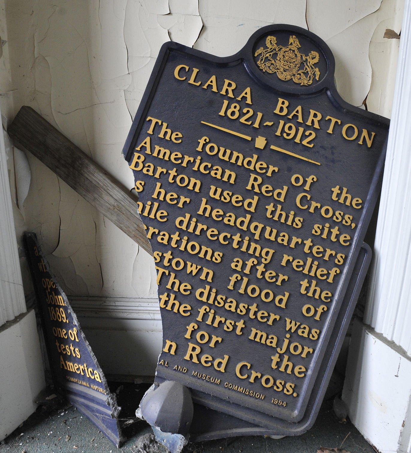 Ludwig House Clara Barton historical marker WATCH
