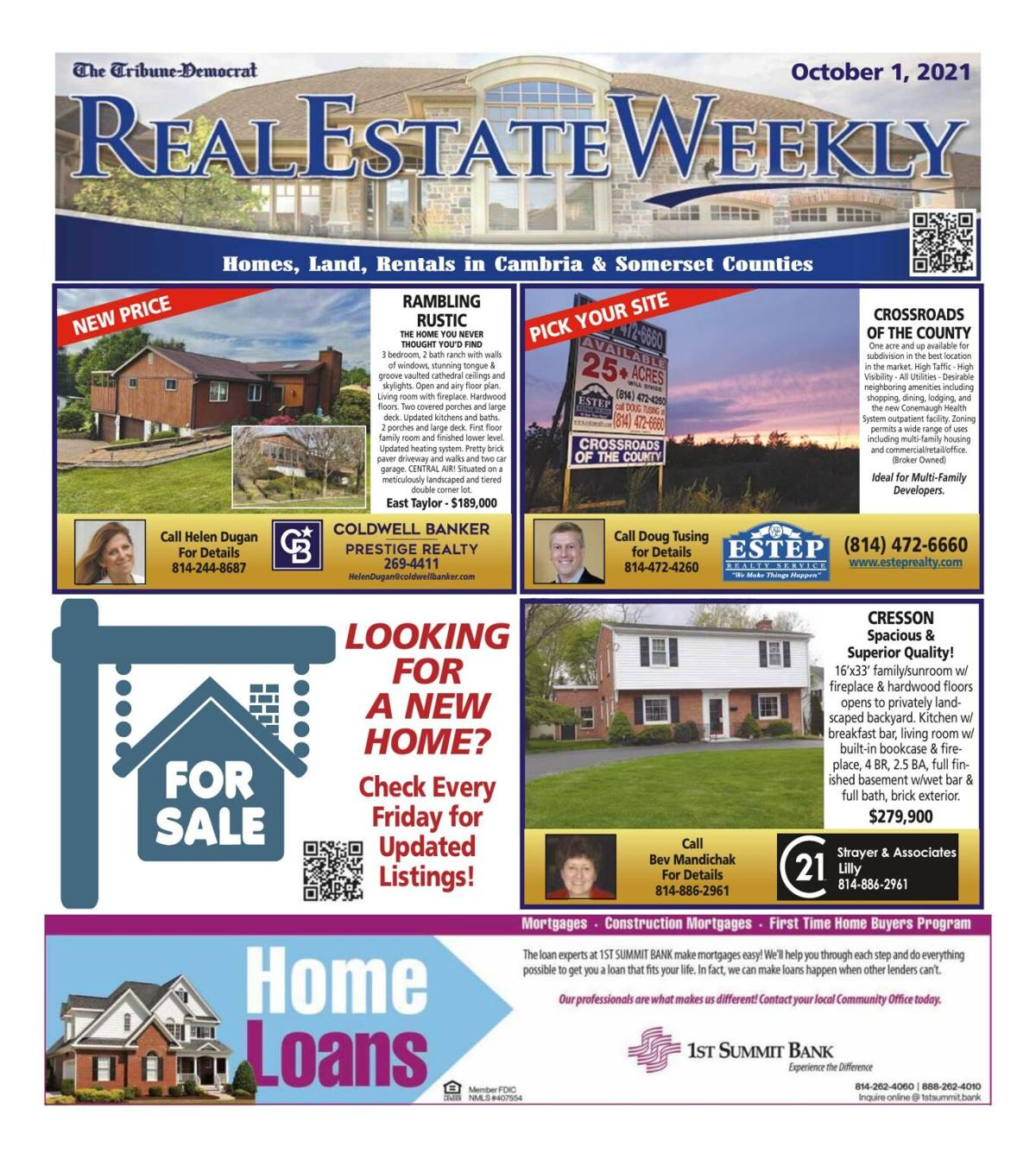 Real Estate Weekly October 1st, 2021