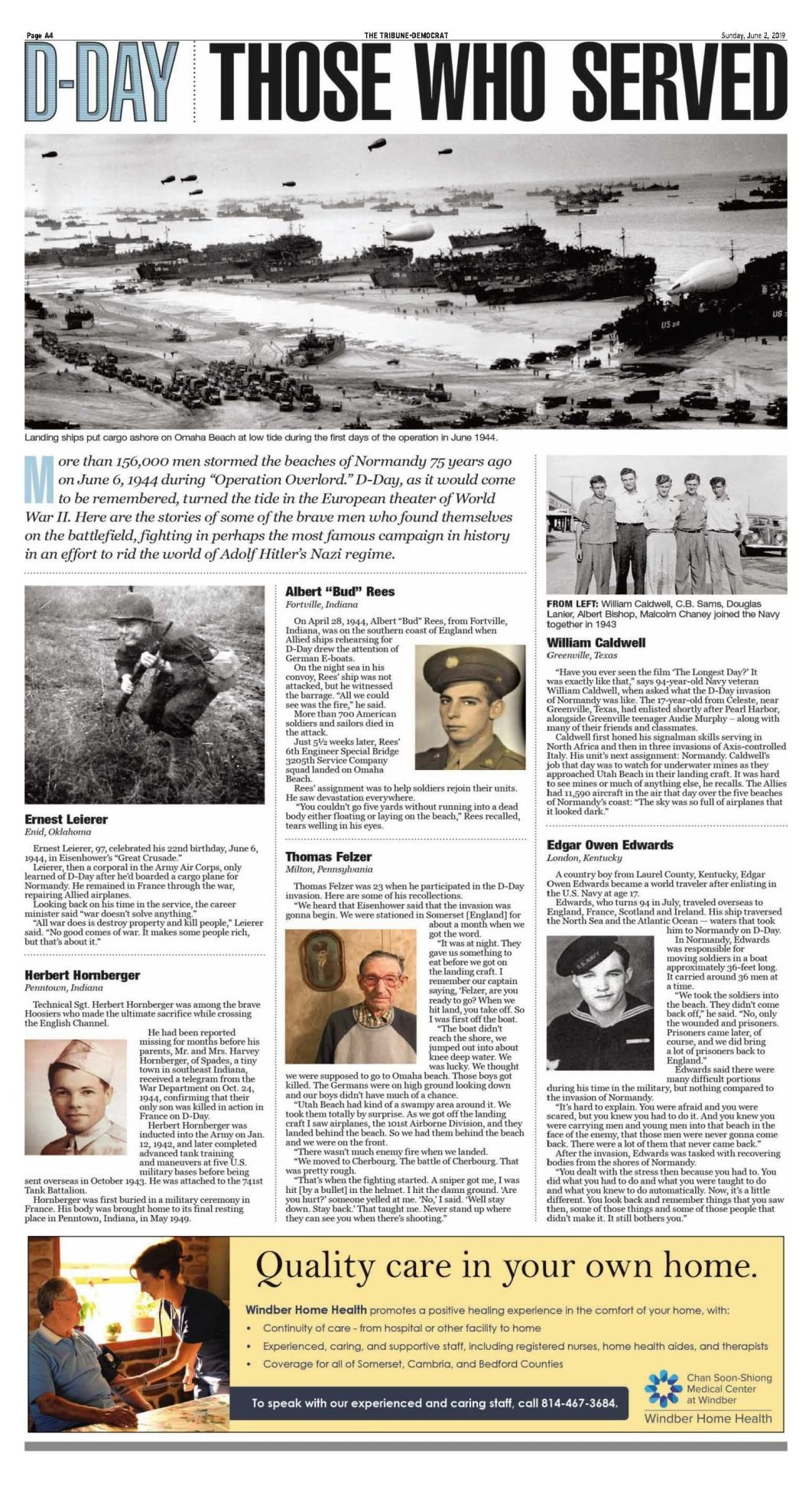 D-DAY PAGE A4 SUNDAY JUNE 2