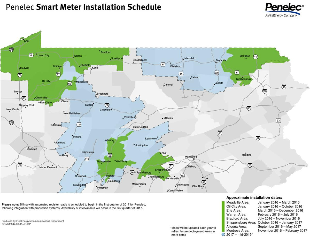 Phone numbers for west penn power - Pa Smart Meter Installation Map_2015 09 Pn Proof 5_