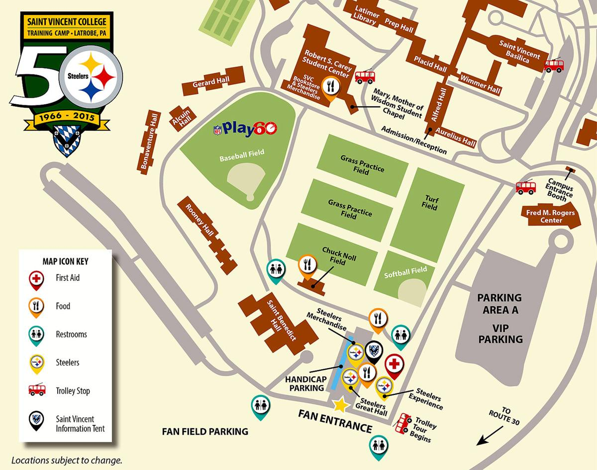 St Norbert College Campus Map.Steelers To Celebrate 50 Years Of Training At St Vincent College