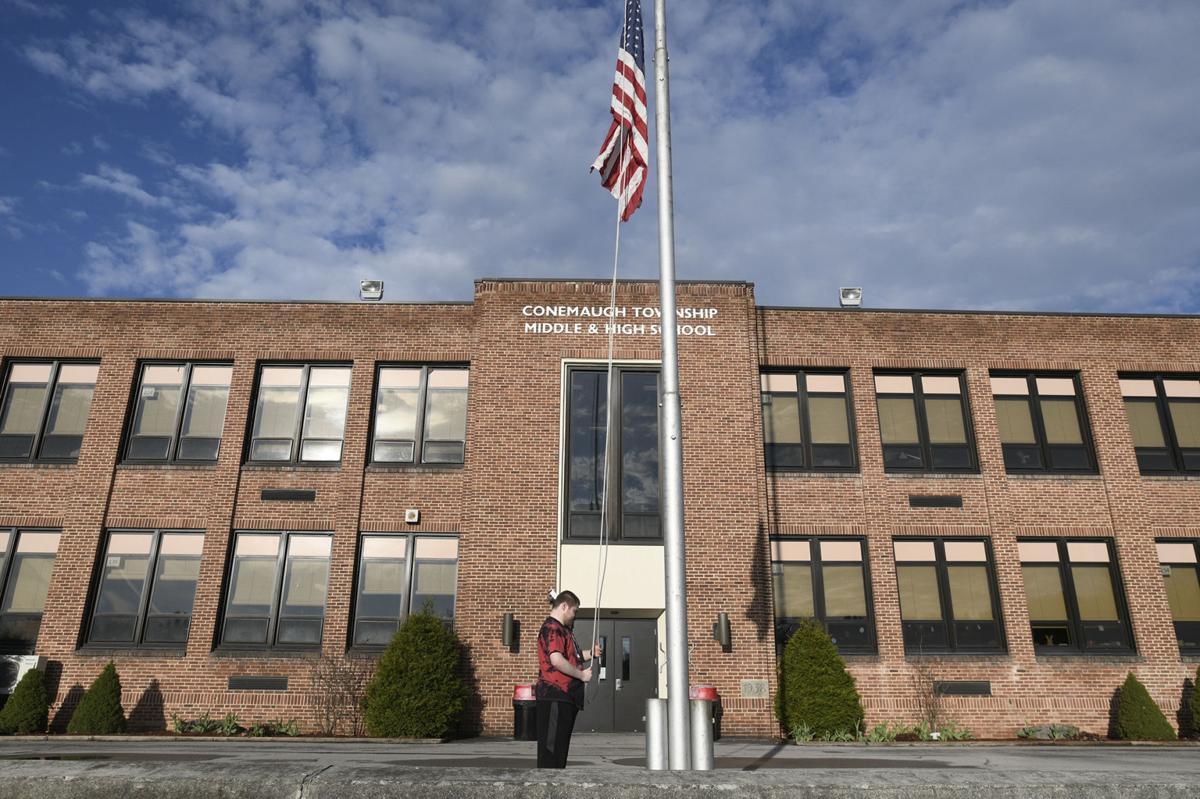Conemaugh Township high school courtyard