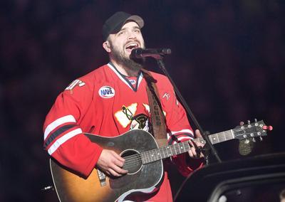 Josh Gallagher nation anthem Feb. 24
