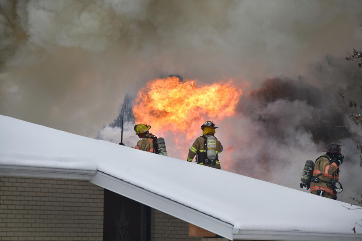 Battling the fire