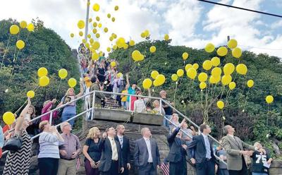 Cambria County Yellow Ribbon Program baloon release