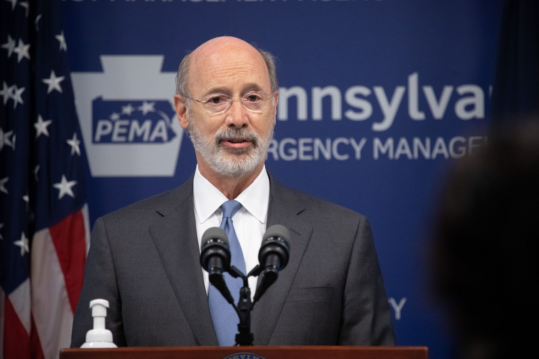 Wolf touts financial benefits of climate change partnerships; lawmakers move to bar participation without their OK