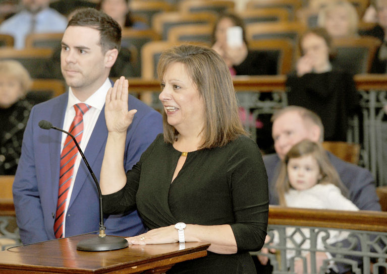 Susan Gindlesperger sworn in