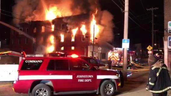Crews battle structure fire on Fairfield Avenue in Johnstown's West End