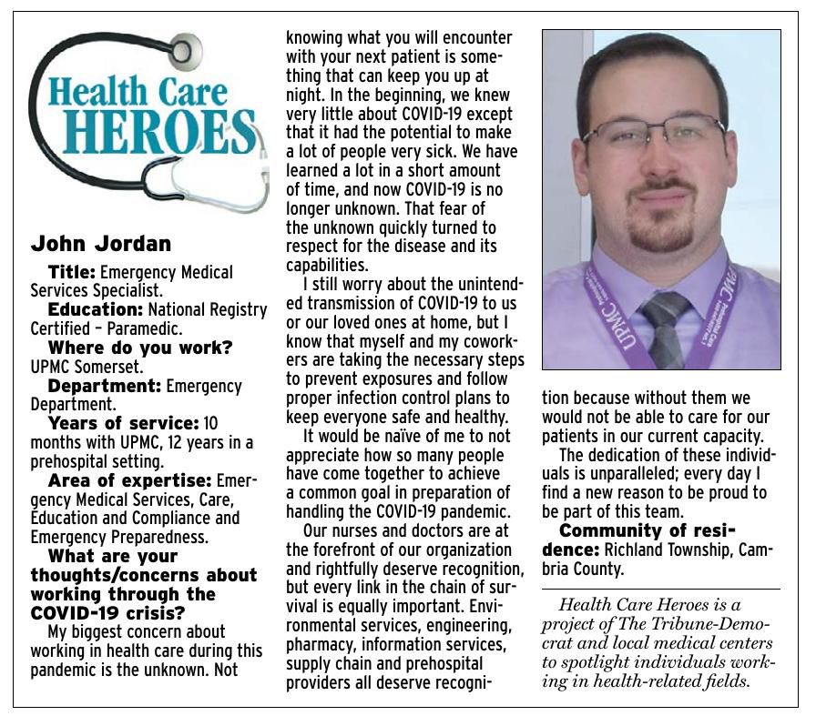Health Care Heroes   John Jordan