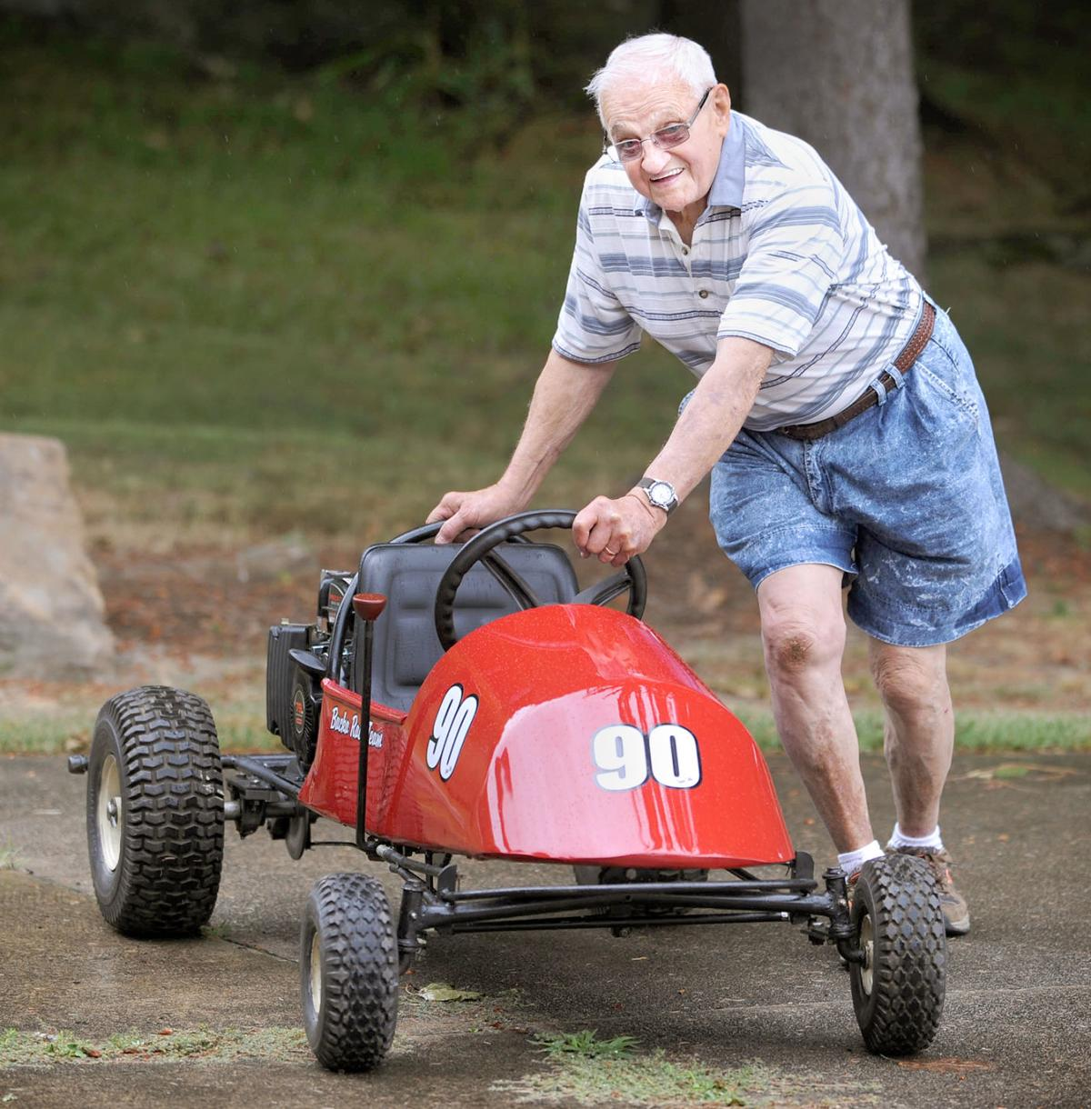 In the spotlight   90-year-old man builds go-kart from scratch   In ...