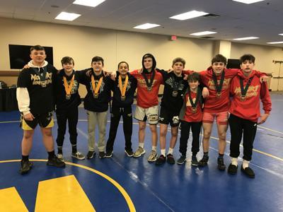 Bishop McCort medalists at the Keystone State Championship