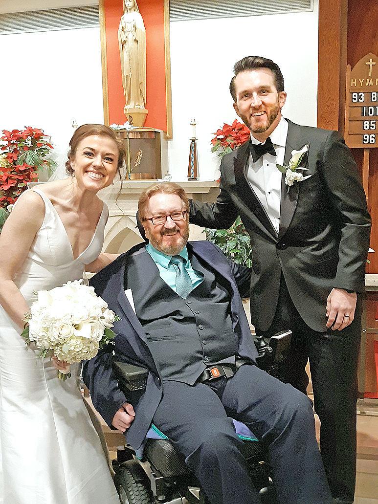 Bill Eggert at wedding
