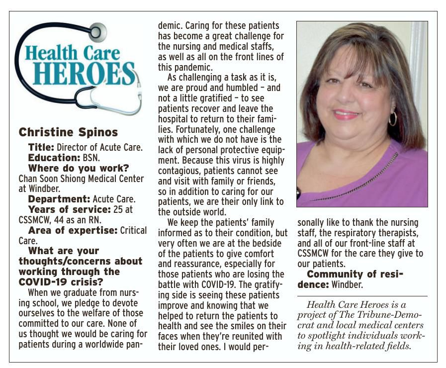 Health Care Heroes | Christine Spinos