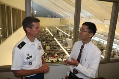 Col. Craig Shriver and Hai Hu