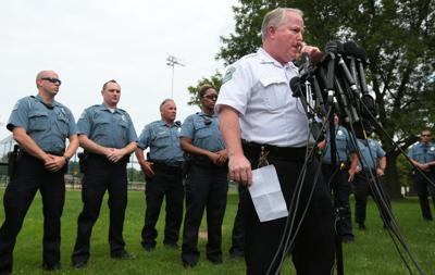 Ferguson police chief answers questions under heightened security