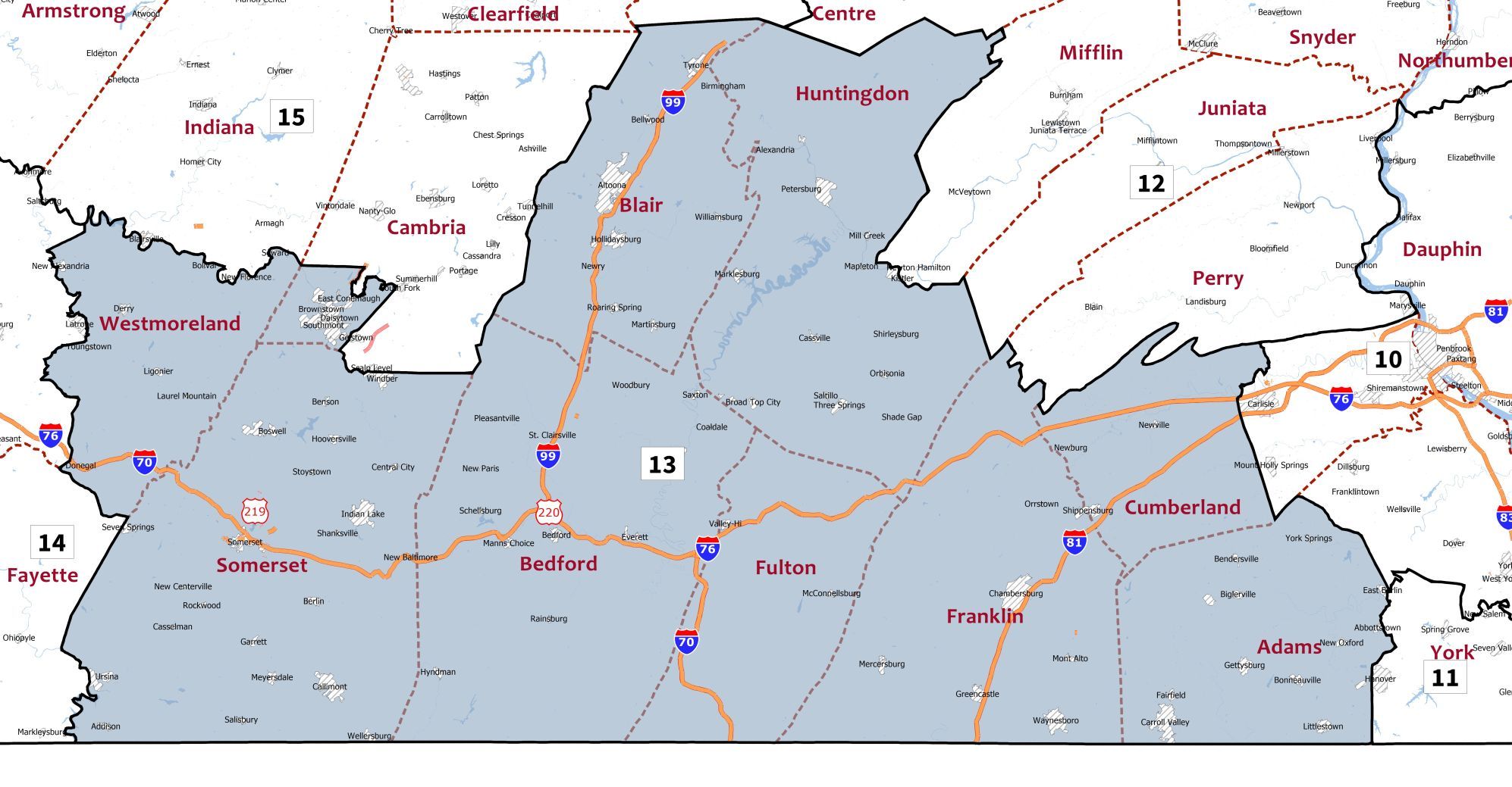 What redrawn congressional map means for Cambria Somerset counties
