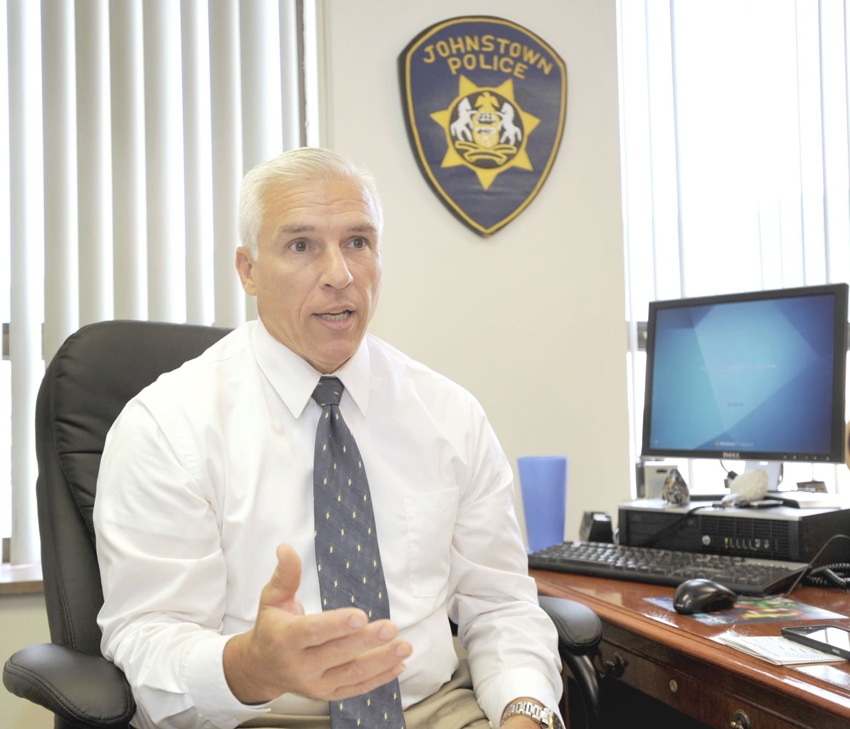 New Johnstown police Chief Robert Johnson speaks