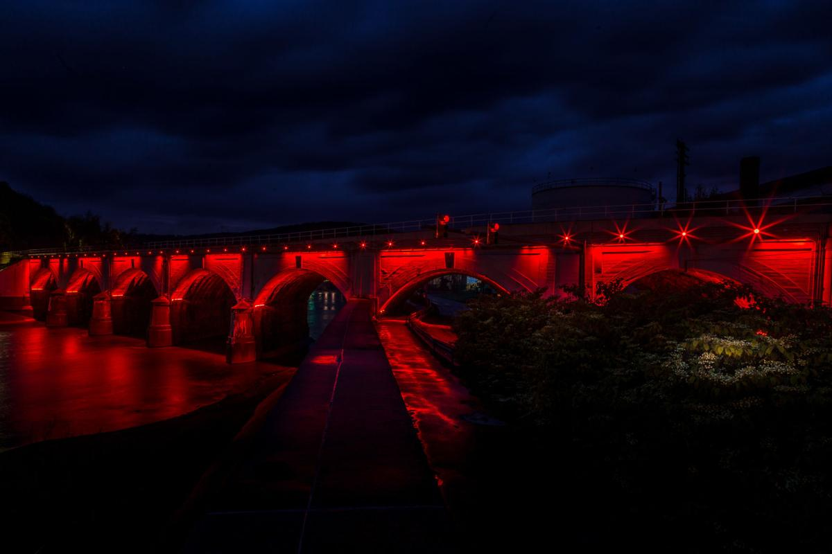 Stone Bridge lit for Conemaugh Township