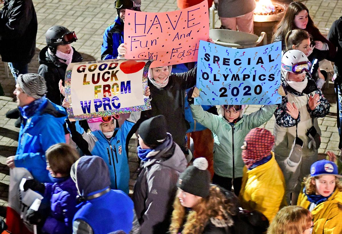 Cheers at Special Olympics