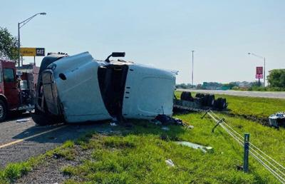 Interstate 70 semi rollover accident claims life of one