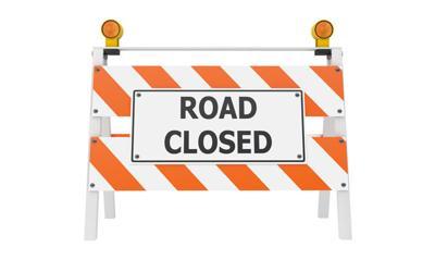 Road Closed Barricade Construction