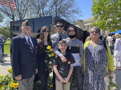 Childress family recognized at Gold Star Families Memorial dedication