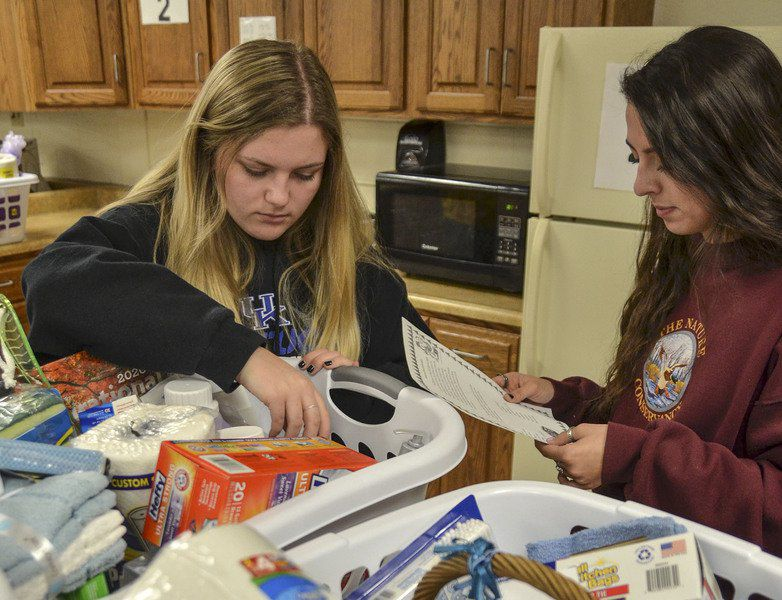 The joy of giving: Students assemble baskets of necessities for older residents