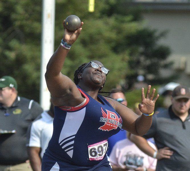 England a two-time all-stater in final meet