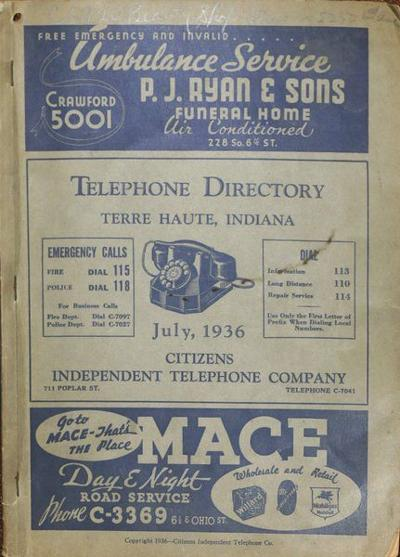 Historical Treasure: Phone book supplied more than numbers
