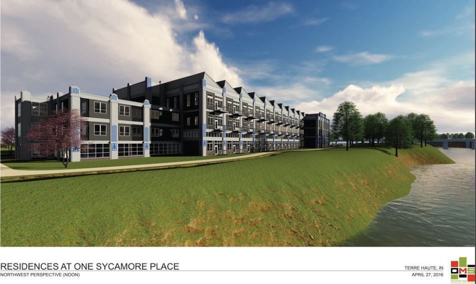 Artist rendering of One Sycamore Place, a northwest perspective