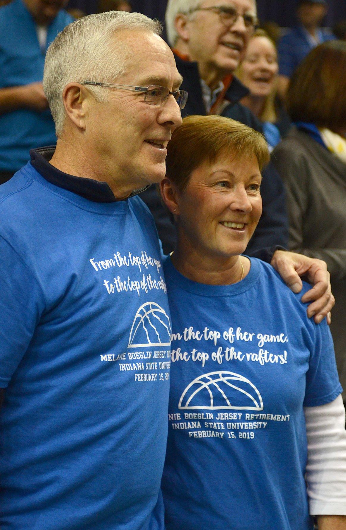 5d5ed7e7d594 Jersey retirement ceremonies for Melanie Boeglin White and Carl Nicks