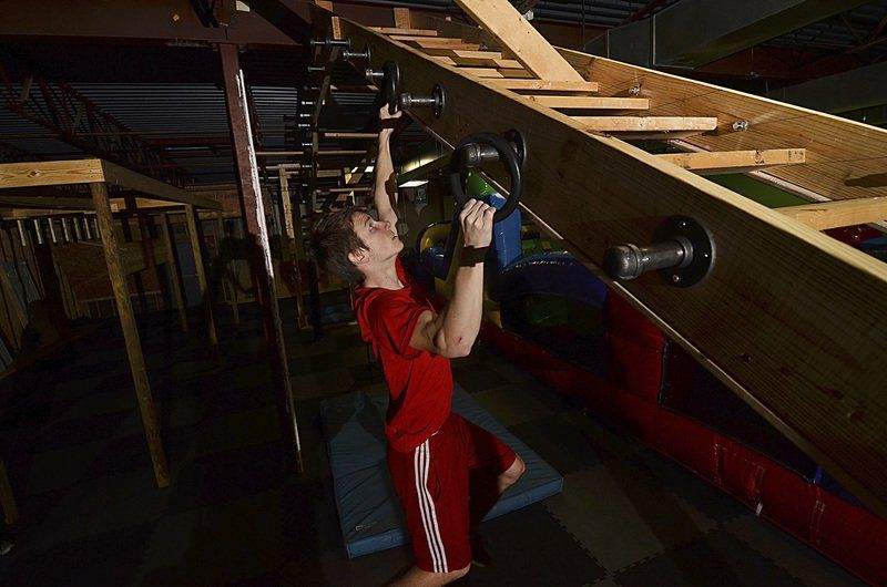 Ninjas in training former tv show participant models gym for