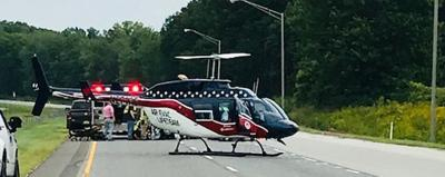 Illinois man airlifted