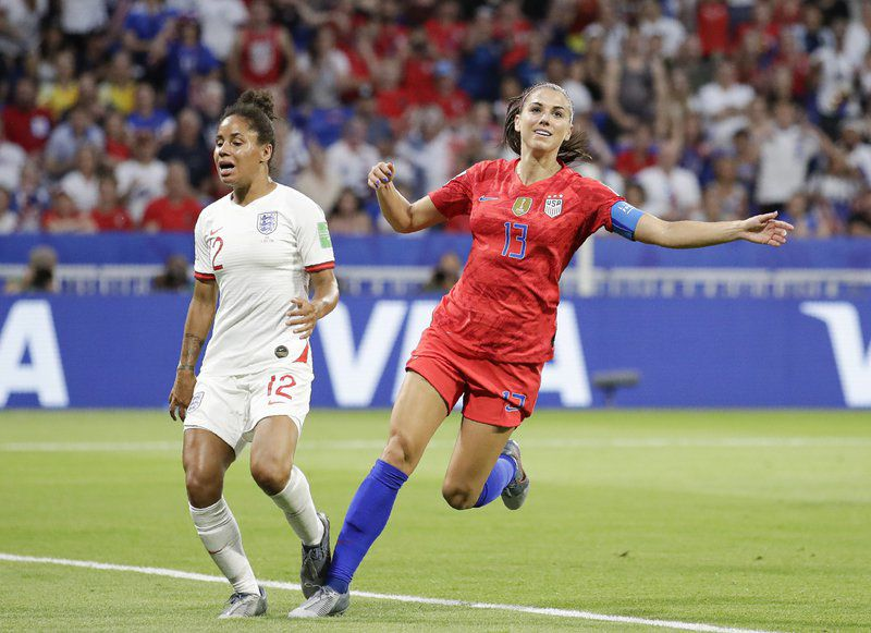 Morgan scores and Naeher saves in 2-1 U.S. victory over England in Women's World Cup.