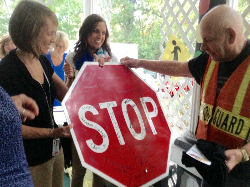 Longtime Crossing Guard Given Appliances Signed Stop Sign