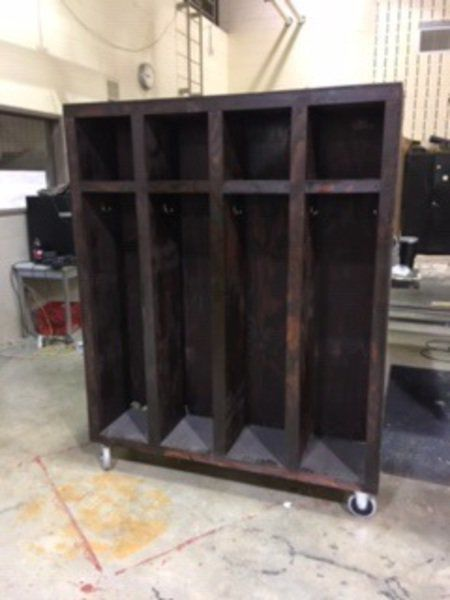 Students build lockers for Mecca-Wabash fire department