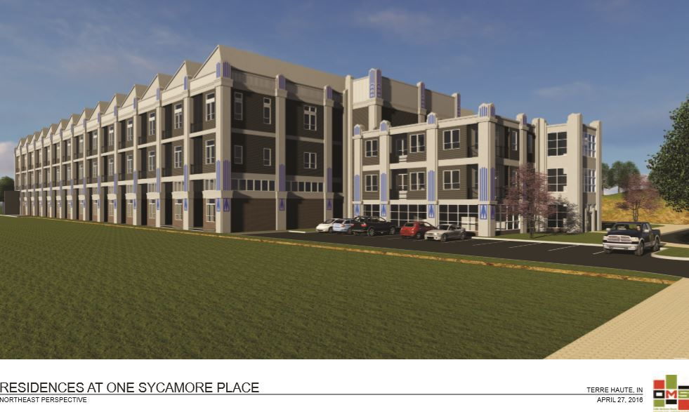 Artist rendering of One Sycamore Place, a northeast perspective
