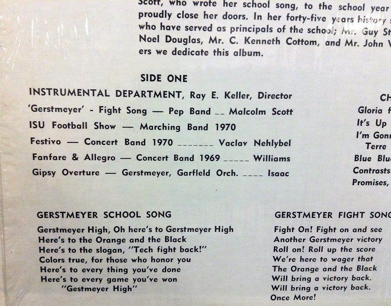 Lyric sheets from bygone high schools in Vigo County | Valley Life