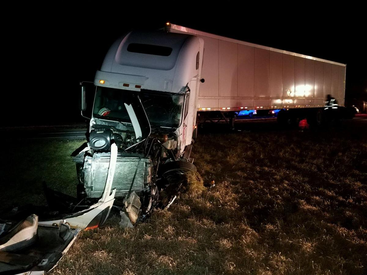 Semi was going southbound in northbound lanes of Indiana 63